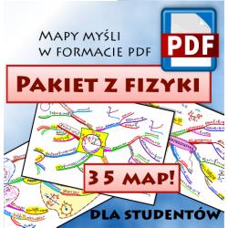 PAKIET Z FIZYKI DLA STUDENTÓW - mapy myśli pdf