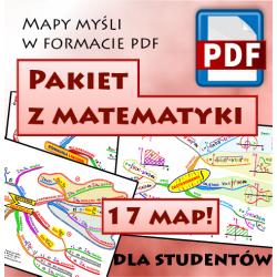 PAKIET Z MATEMATYKI DLA STUDENTÓW - mapy myśli pdf